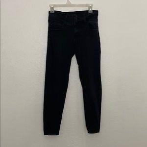 black high rise skinny jeans